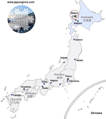Carte Japon Givré